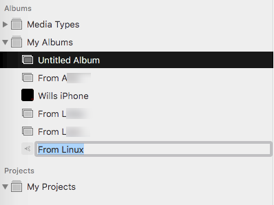 Image showing incorrect album item editing